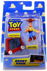 Disney / Pixar Toy Story Mini Figure Buddy 2-Pack Etch A Sketch & Quick-Draw Woody