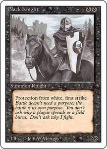 Magic the Gathering Revised Edition Single Card Uncommon Black Knight