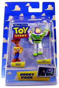 Disney / Pixar Toy Story Mini Figure Buddy 2-Pack Sheriff Woody & Flyin Buzz Lightyear