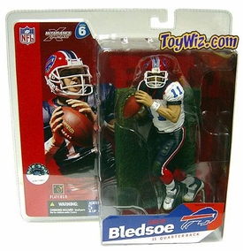 McFarlane Toys NFL Sports Picks Series 6 Action Figure Drew Bledsoe (Buffalo Bills) White Jersey Variant BLOWOUT SALE!