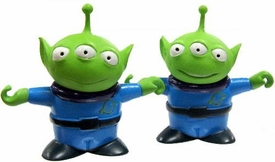 Disney / Pixar Toy Story and Beyond Japanese Real Figure 2Inch Articulated PVC Toy Pair of Little Green Aliens