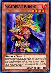 YuGiOh Zexal Cosmo Blazer Single Card Super Rare CBLZ-EN039 Valkyrian Knight