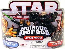 Star Wars Galactic Heroes Mini Figure 2-Pack Luke Skywalker & Darth Vader