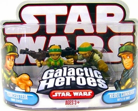 Star Wars Galactic Heroes Mini Figure 2-Pack Princess Leia & Rebel Commander [Battle of Endor]