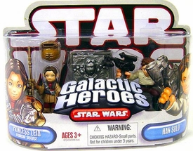Star Wars Galactic Heroes Mini Figure 2-Pack Princess Leia [Boushh Disguise] & Han Solo