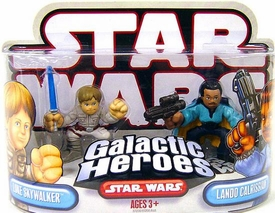 Star Wars Galactic Heroes Mini Figure 2-Pack Luke Skywalker & Lando Calrissian