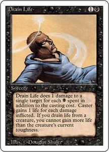Magic the Gathering Revised Edition Single Card Common Drain Life