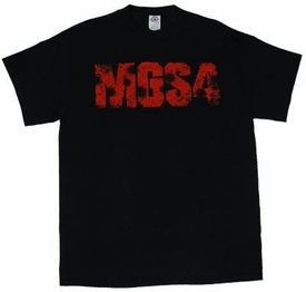 Metal Gear Solid 4 T-Shirt Logo with Bullet Holes [Adult] BLOWOUT SALE!
