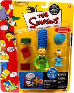 The Simpsons Series 10 Playmates Action Figure Sunday Best Marge & Maggie