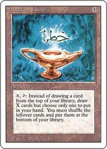 Magic the Gathering Revised Edition Single Card Rare Aladdin's Lamp