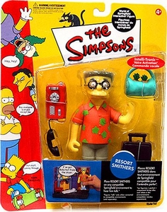 The Simpsons Series 10 Playmates Action Figure Resort Smithers