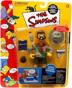 The Simpsons Series 10 Playmates Action Figure Scout Leader Flanders