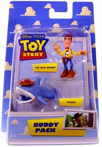 Disney / Pixar Toy Story Mini Figure Buddy 2-Pack Toy Box Woody & Shark