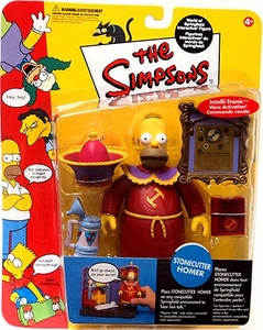 The Simpsons Series 10 Playmates Action Figure Stonecutter Homer
