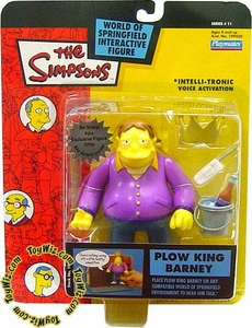 The Simpsons Series 11 Playmates Action Figure Plow King Barney