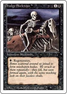 Magic the Gathering Revised Edition Single Card Common Drudge Skeletons