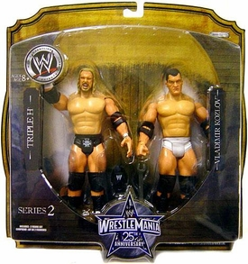 WWE Wrestlemania 25 Series 2 Action Figure 2-Pack Triple H & Vladimir Kozlov