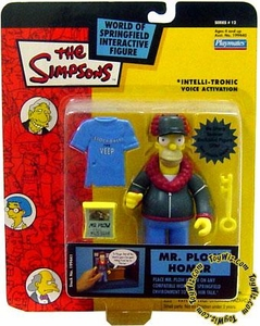 The Simpsons Series 12 Playmates Action Figure Mr. Plow Homer