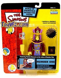 The Simpsons Series 12 Playmates Action Figure Number One  [Loose]