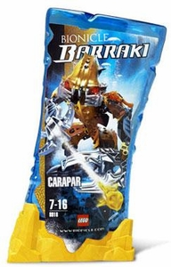 LEGO Bionicle BARRAKI Figure #8918 Carapar [Yellow]