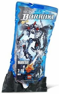LEGO Bionicle BARRAKI Figure #8919 Mantax [Black]