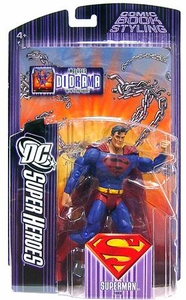 DC Super Heroes Mattel Select Sculpt Series 5 Action Figure Superman [Black Logo Variant]