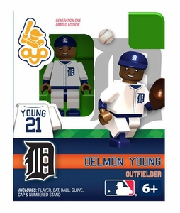 OYO Baseball MLB Building Brick Minifigure Delmon Young [Detroit Tigers]