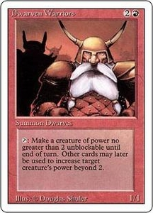 Magic the Gathering Revised Edition Single Card Common Dwarven Warriors
