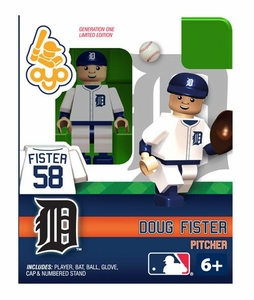 OYO Baseball MLB Building Brick Minifigure Doug Fister [Detroit Tigers]