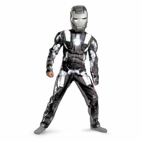 Disguise Iron Man 2 Movie Costume #11717 War Machine Deluxe Muscle Costume [Child]