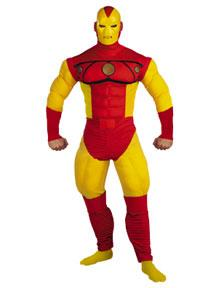 Iron Man #5219 Muscle Chest Iron Man Costume (Adult Size 42-46)