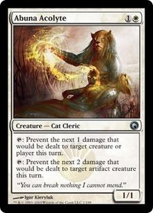 Magic the Gathering Scars of Mirrodin Single Card Uncommon #1 Abuna Acolyte