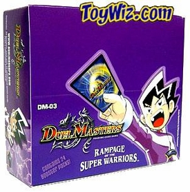 Duel Masters Card Game DM-03 Rampage of the Super Warriors Booster Box [24 Packs]