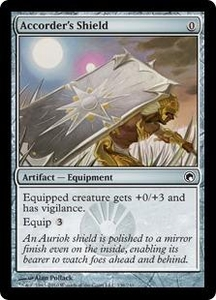 Magic the Gathering Scars of Mirrodin Single Card Common #136 Accorder's Shield