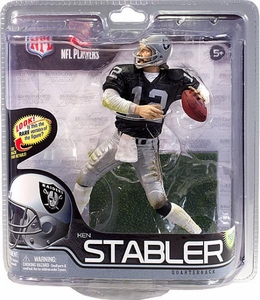McFarlane Toys NFL Sports Picks Series 29 Action Figure Ken Stabler (Oakland Raiders) Black Jersey