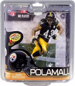 McFarlane Toys NFL Sports Picks Series 29 Action Figure Troy Polamalu (Pittsburgh Steelers) Black Jersey