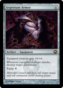 Magic the Gathering Scars of Mirrodin Single Card Rare #137 Argentum Armor