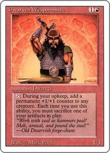 Magic the Gathering Revised Edition Single Card Uncommon Dwarven Weaponsmith
