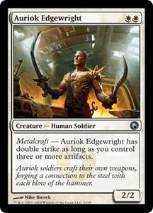 Magic the Gathering Scars of Mirrodin Single Card Uncommon #3 Auriok Edgewright
