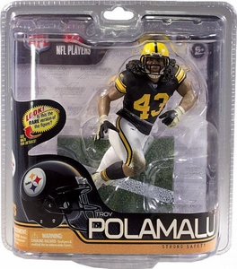 McFarlane Toys NFL Sports Picks Series 29 Action Figure Troy Polamalu (Pittsburgh Steelers) Retro Jersey Chase