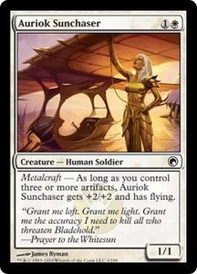 Magic the Gathering Scars of Mirrodin Single Card Common #4 Auriok Sunchaser