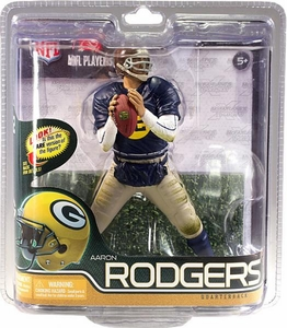 McFarlane Toys NFL Sports Picks Series 29 Action Figure Aaron Rodgers (Green Bay Packers) Retro Uniform Silver Collector Level Chase Only 1,000 Made!