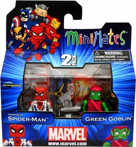 Marvel Minimates Series 41 Mini Figure 2-Pack Unmasked Spider-Man & Green Goblin