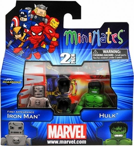 Marvel Minimates Series 41 Mini Figure 2-Pack First Appearance Iron Man & Hulk