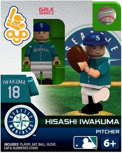 OYO Baseball MLB Generation 2 Building Brick Minifigure Hisashi Iwakuma [Seattle Mariners]