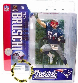 McFarlane Toys NFL Sports Picks Series 13 Action Figure Tedy Bruschi (New England Patriots) Blue Jersey