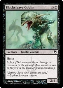 Magic the Gathering Scars of Mirrodin Single Card Common #54 Blackcleave Goblin