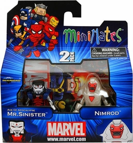 Marvel Minimates Series 41 Mini Figure 2-Pack Age of Apocalypse Mr. Sinister & Nimrod [Variant]