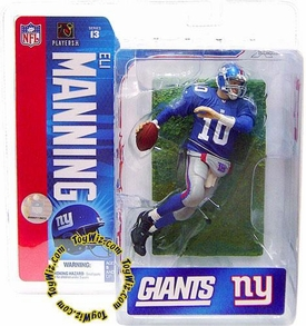 McFarlane Toys NFL Sports Picks Series 13 Action Figure Eli Manning (New York Giants) Blue Jersey