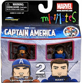 Marvel MiniMates Series 40 Mini Figure 2-Pack Frontline Captain America & Bucky